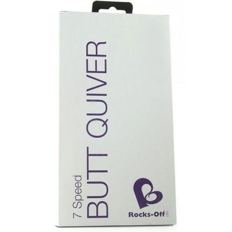 Анальная пробка с вибрацией Butt Quiver - 13 см.