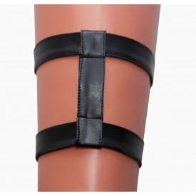 Двойная кожаная подвязка на ногу