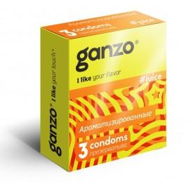 Ароматизированные презервативы Ganzo Juice - 3 шт.