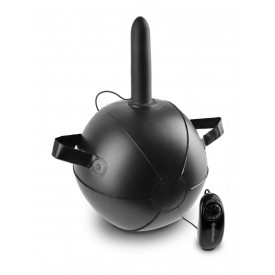 """Мини-мяч с фаллической насадкой коричневого цвета и вибрацией Vibrating Mini Sex Ball with 7"""" Dildo - 17,7 см."""