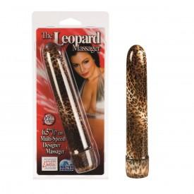 Водонепроницаемый леопардовый вибратор - 17 см.