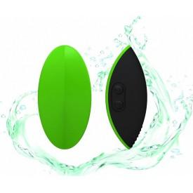 Зелёный вибромассажер Eros для стимуляции эрогенных зон